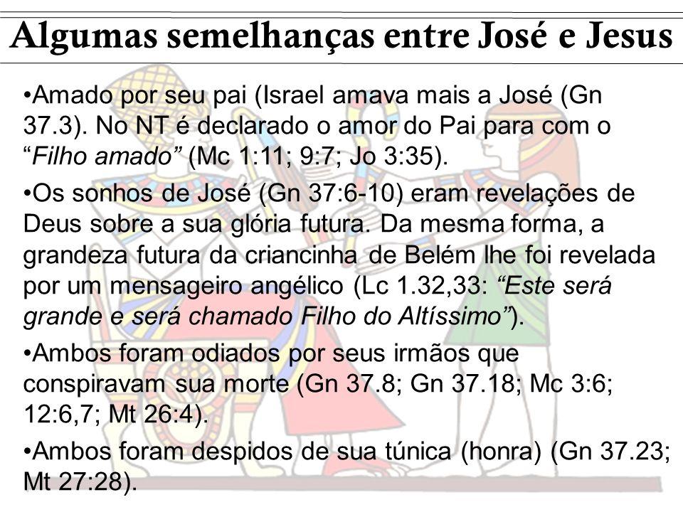 Algumas semelhanças entre José e Jesus