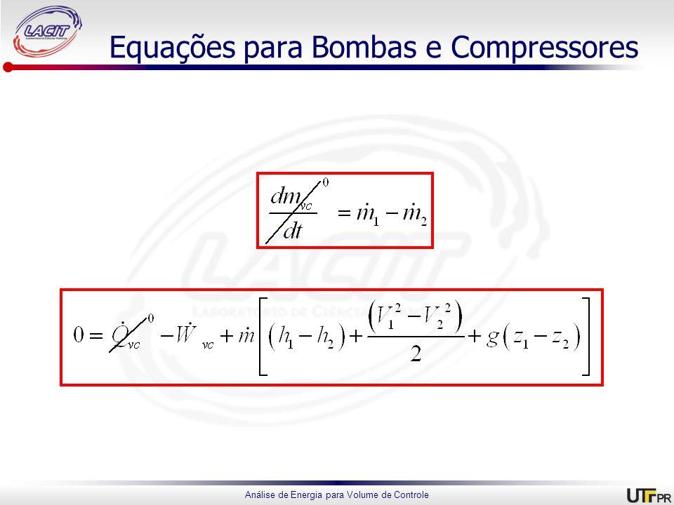 Equações para Bombas e Compressores