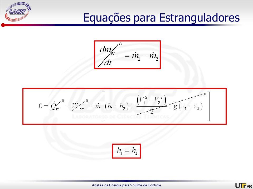 Equações para Estranguladores