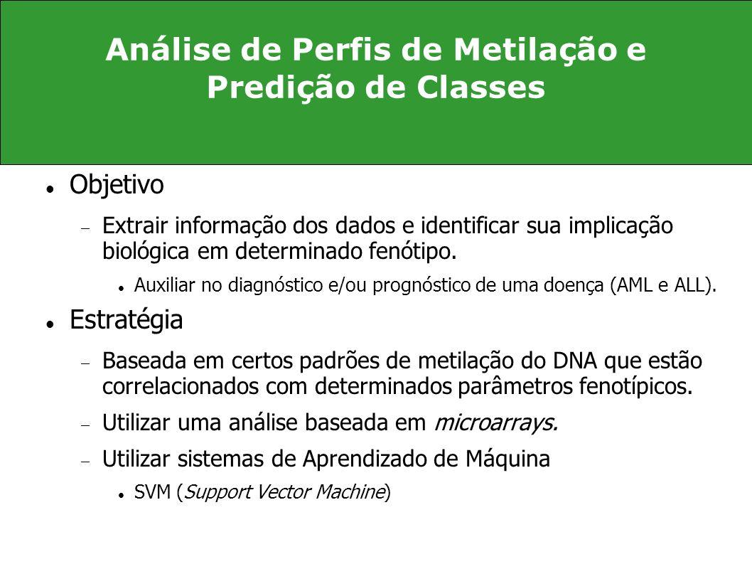 Análise de Perfis de Metilação e Predição de Classes