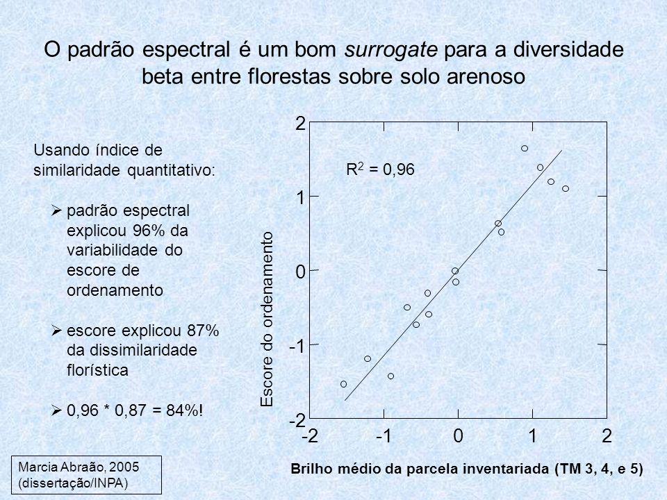 O padrão espectral é um bom surrogate para a diversidade beta entre florestas sobre solo arenoso