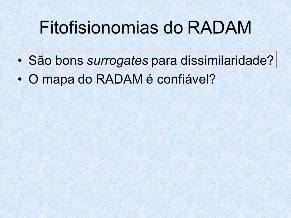 Fitofisionomias do RADAM