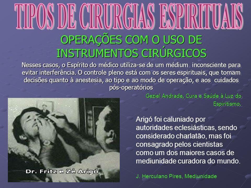 TIPOS DE CIRURGIAS ESPIRITUAIS
