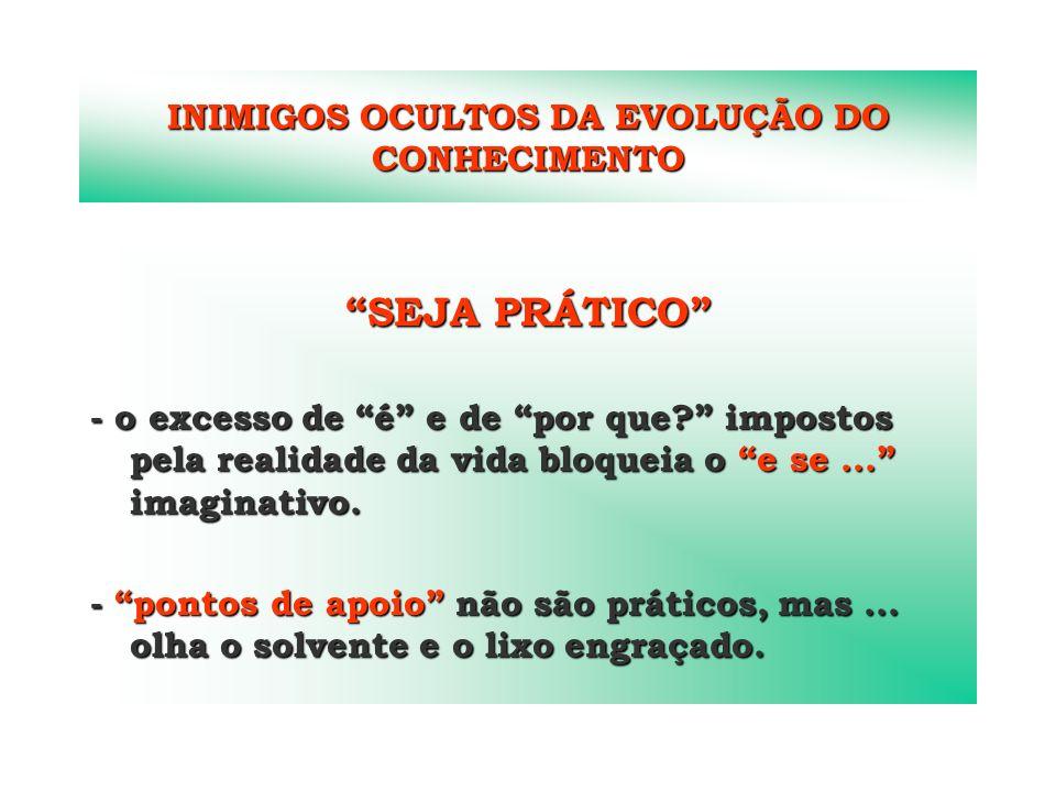 INIMIGOS OCULTOS DA EVOLUÇÃO DO CONHECIMENTO