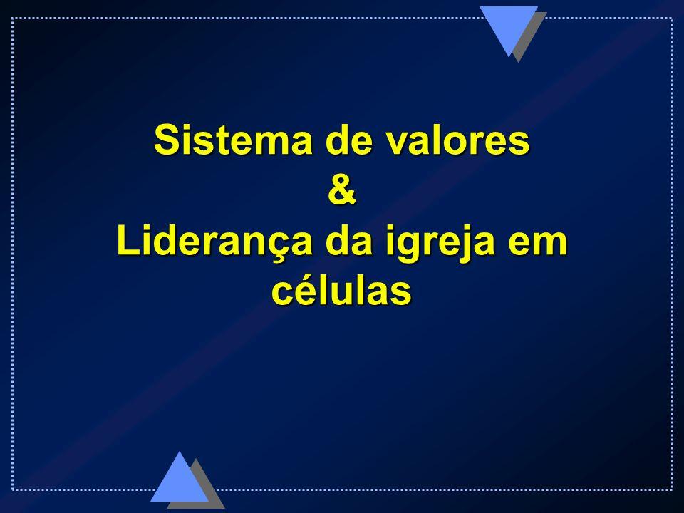 Sistema de valores & Liderança da igreja em células