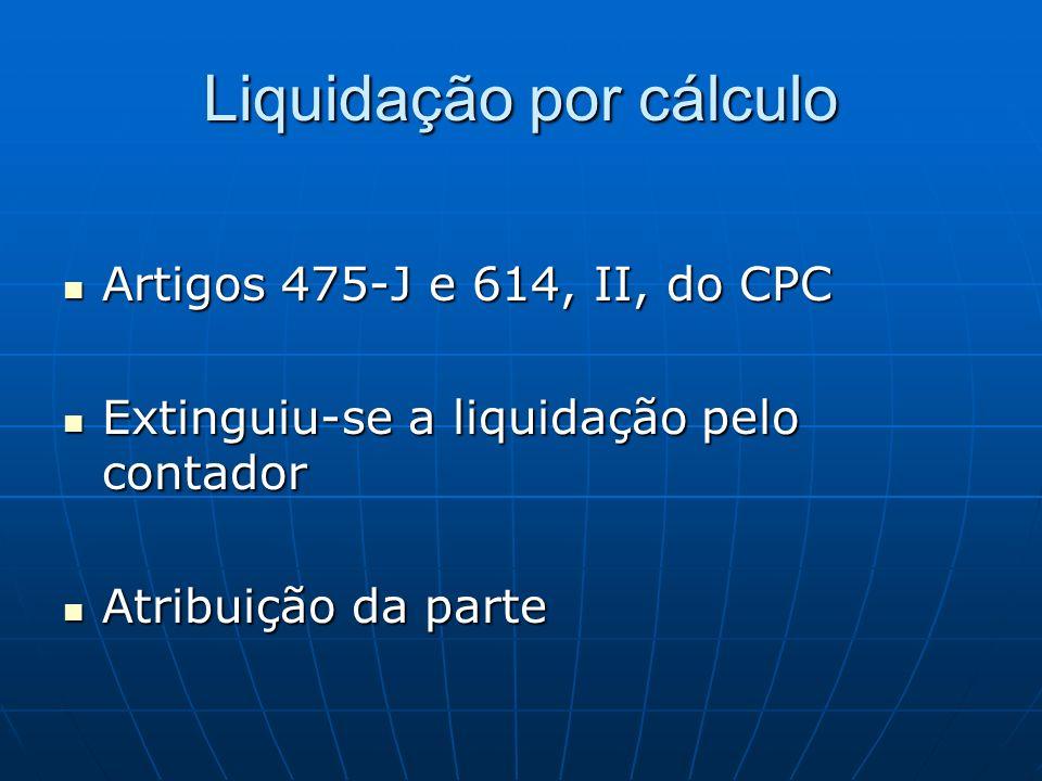 Liquidação por cálculo