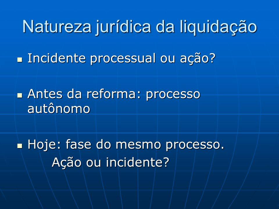 Natureza jurídica da liquidação