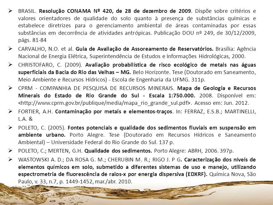 BRASIL. Resolução CONAMA Nº 420, de 28 de dezembro de 2009