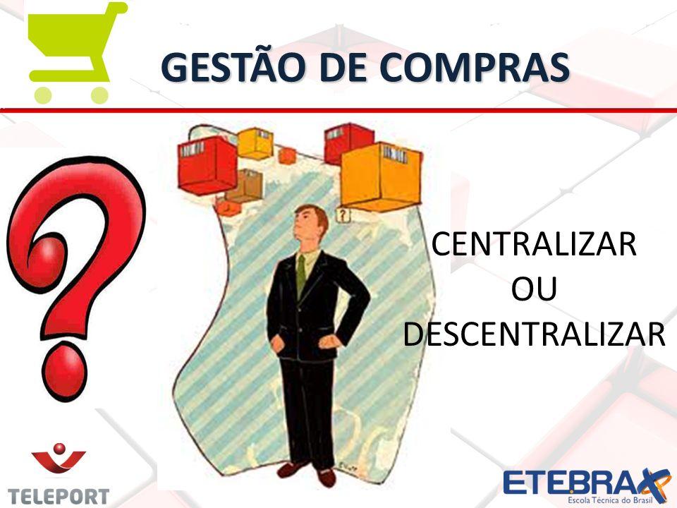 GESTÃO DE COMPRAS CENTRALIZAR OU DESCENTRALIZAR