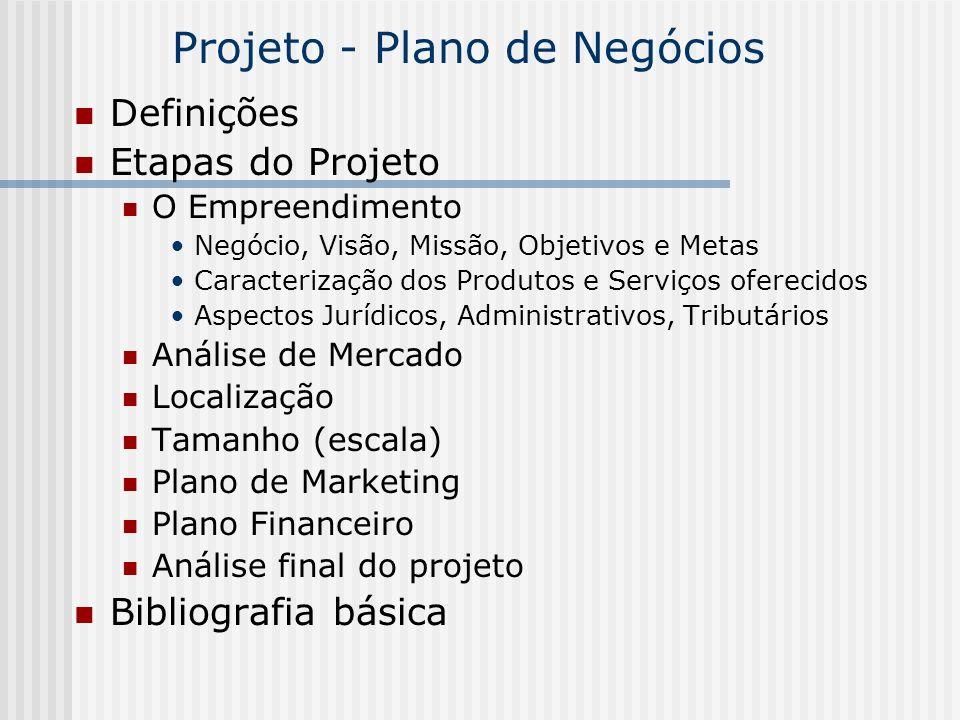 Projeto - Plano de Negócios