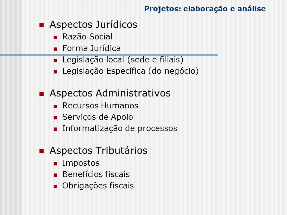 Projetos: elaboração e análise