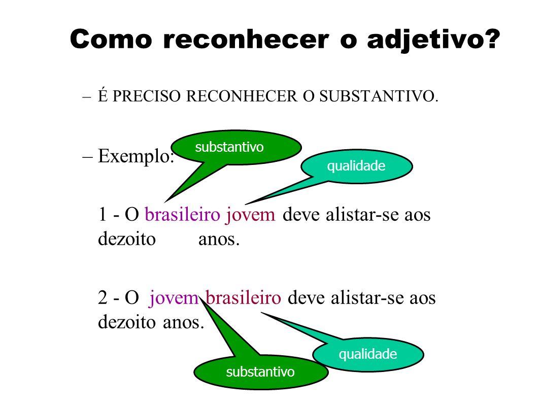 Como reconhecer o adjetivo