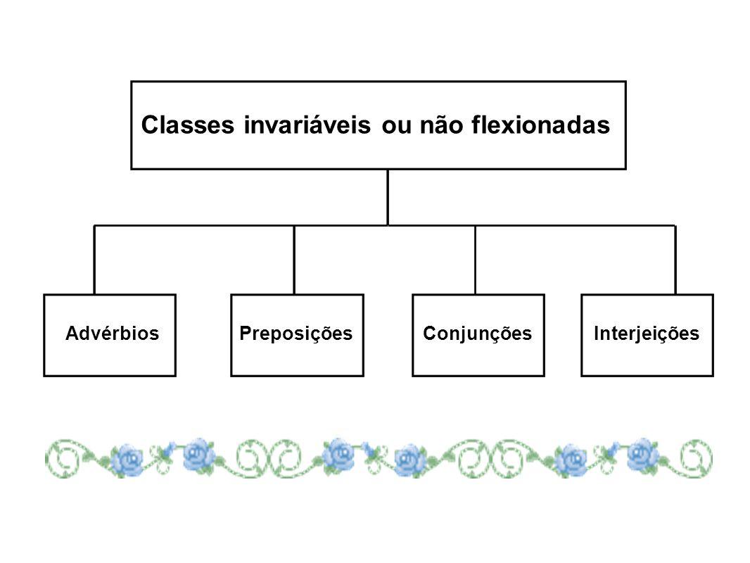 Classes invariáveis ou não flexionadas