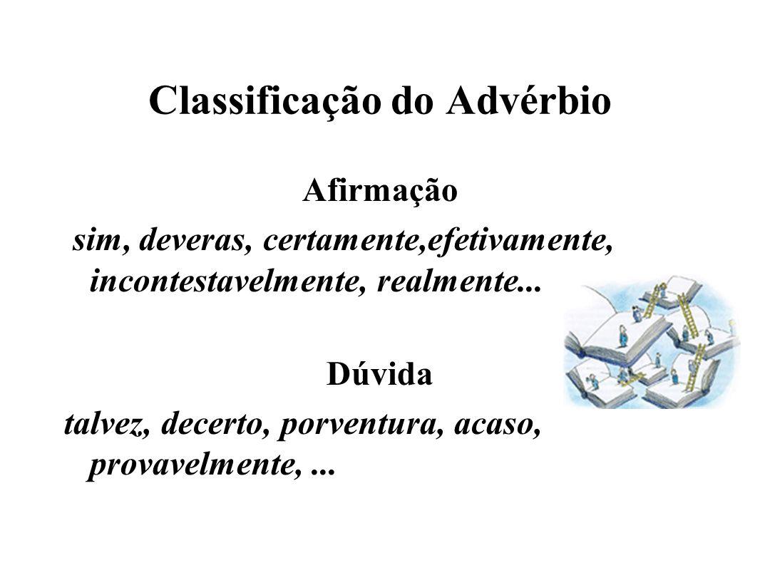 Classificação do Advérbio
