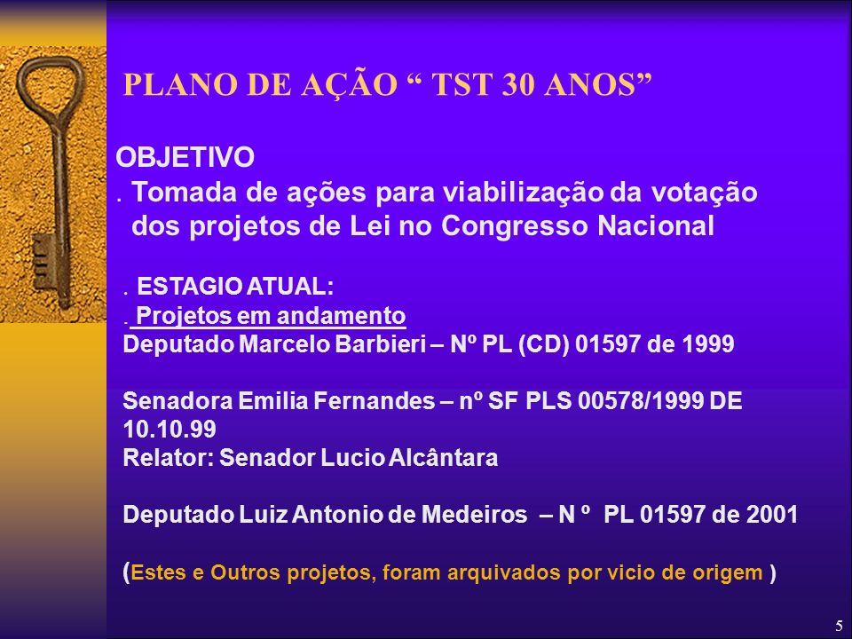 PLANO DE AÇÃO TST 30 ANOS