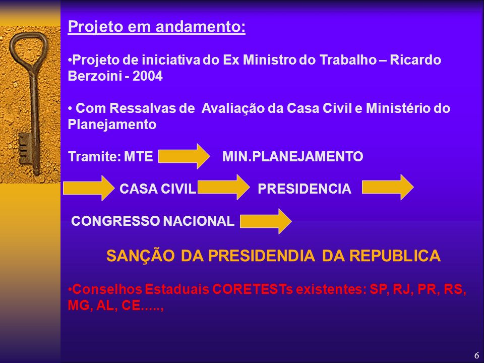 SANÇÃO DA PRESIDENDIA DA REPUBLICA