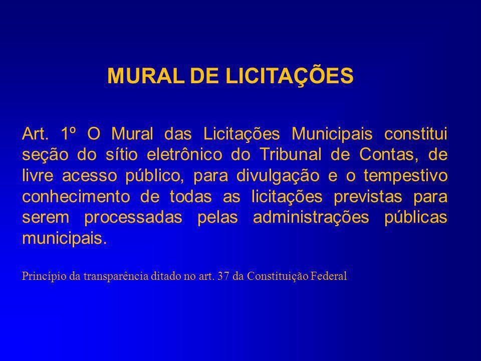 MURAL DE LICITAÇÕES