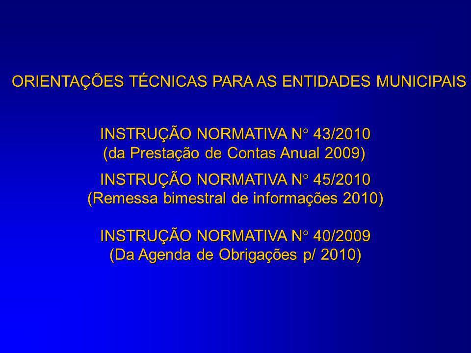ORIENTAÇÕES TÉCNICAS PARA AS ENTIDADES MUNICIPAIS