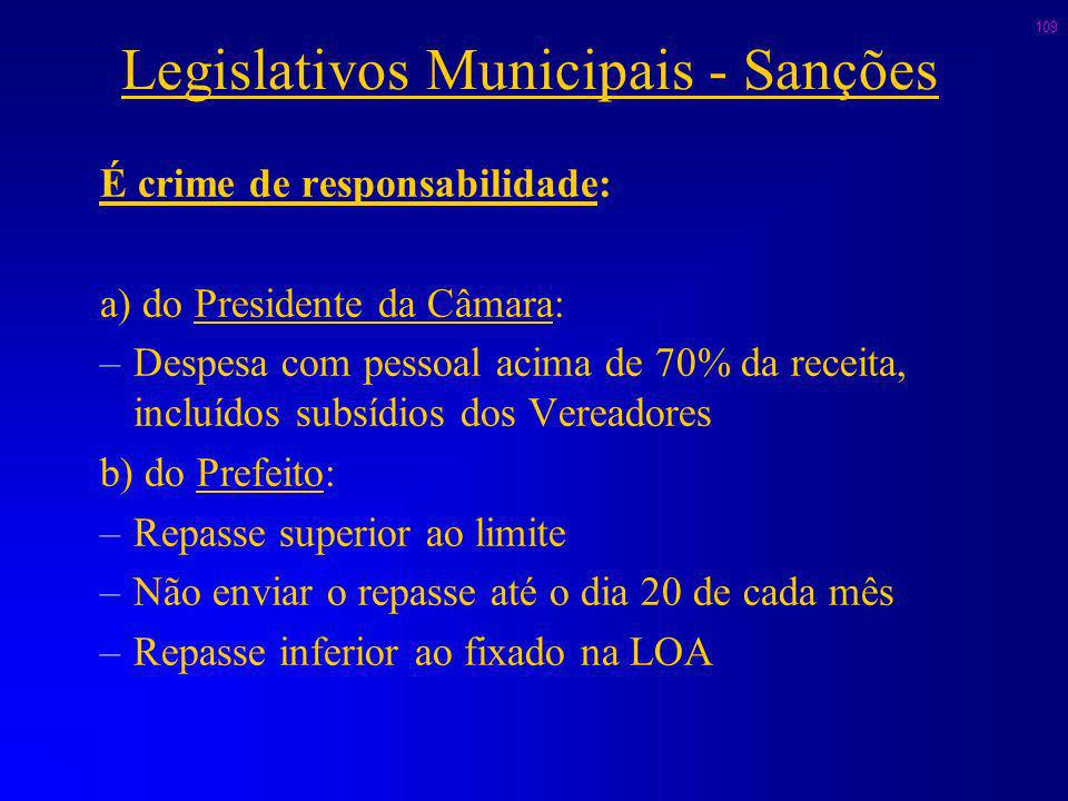 Legislativos Municipais - Sanções