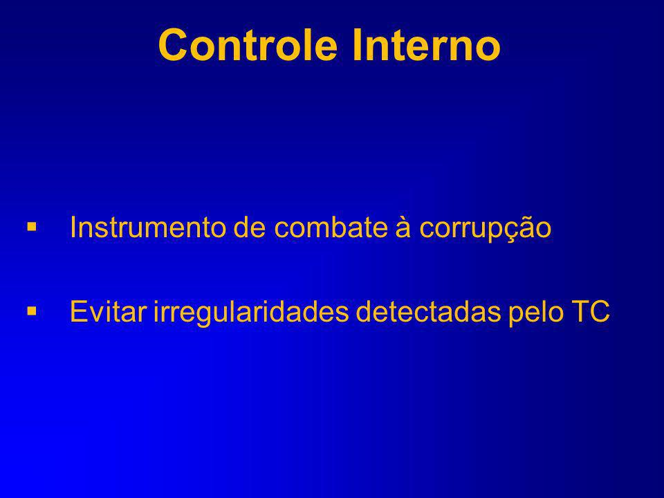 Controle Interno Instrumento de combate à corrupção