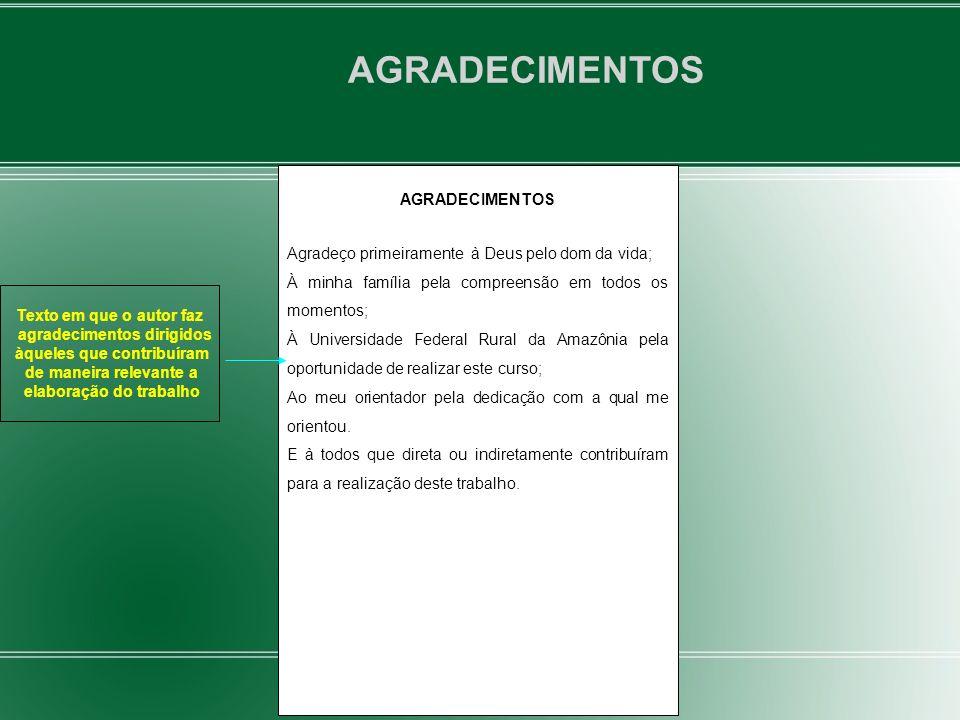 AGRADECIMENTOS 15 AGRADECIMENTOS