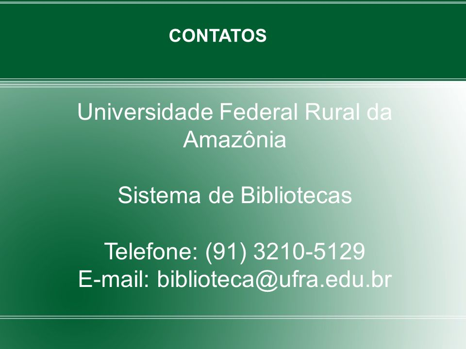 Universidade Federal Rural da Amazônia
