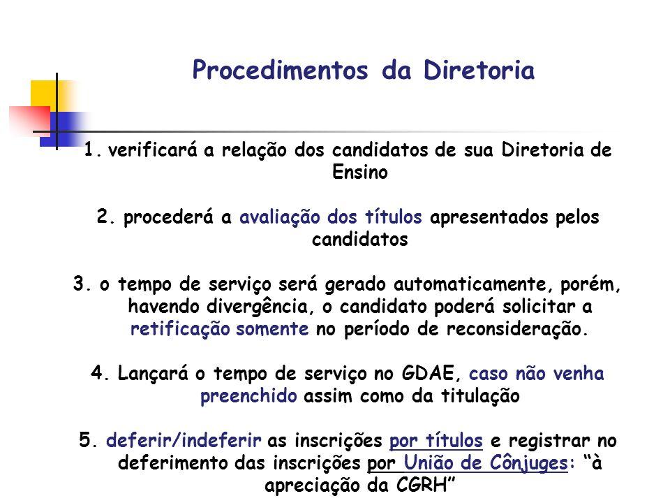 Procedimentos da Diretoria
