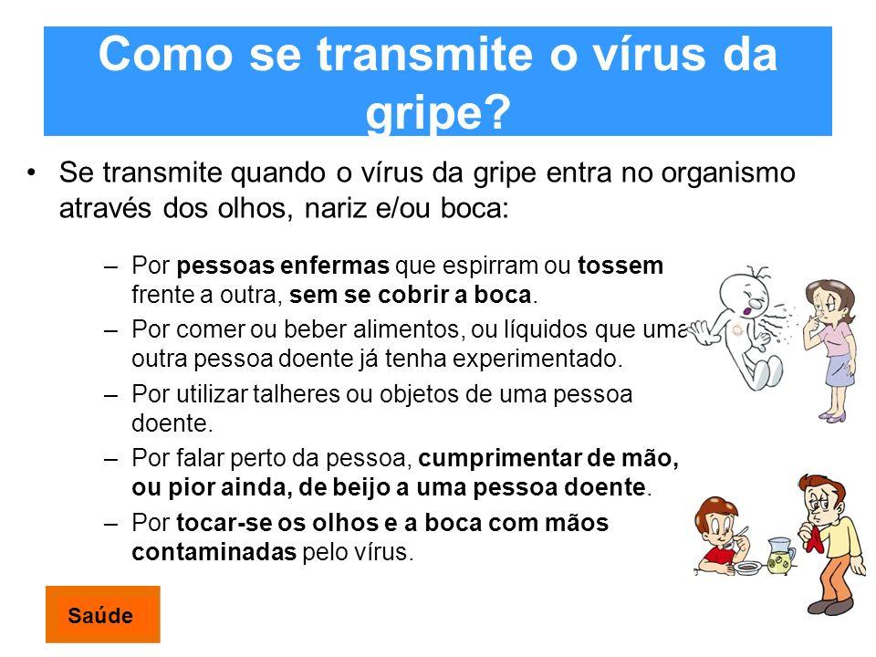 Como se transmite o vírus da gripe