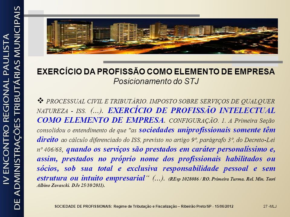 EXERCÍCIO DA PROFISSÃO COMO ELEMENTO DE EMPRESA