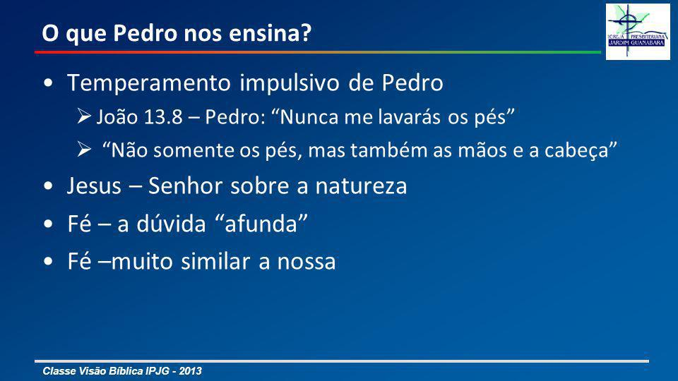 Temperamento impulsivo de Pedro