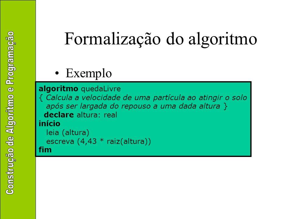 Formalização do algoritmo