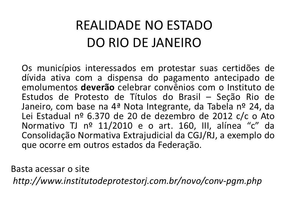 REALIDADE NO ESTADO DO RIO DE JANEIRO