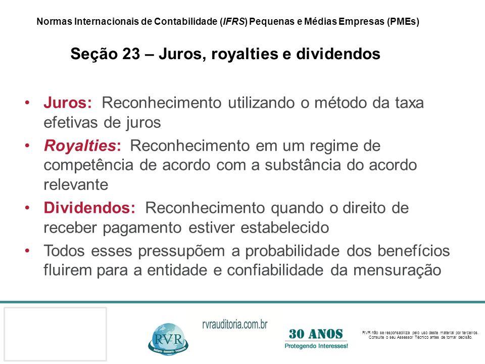 Juros: Reconhecimento utilizando o método da taxa efetivas de juros