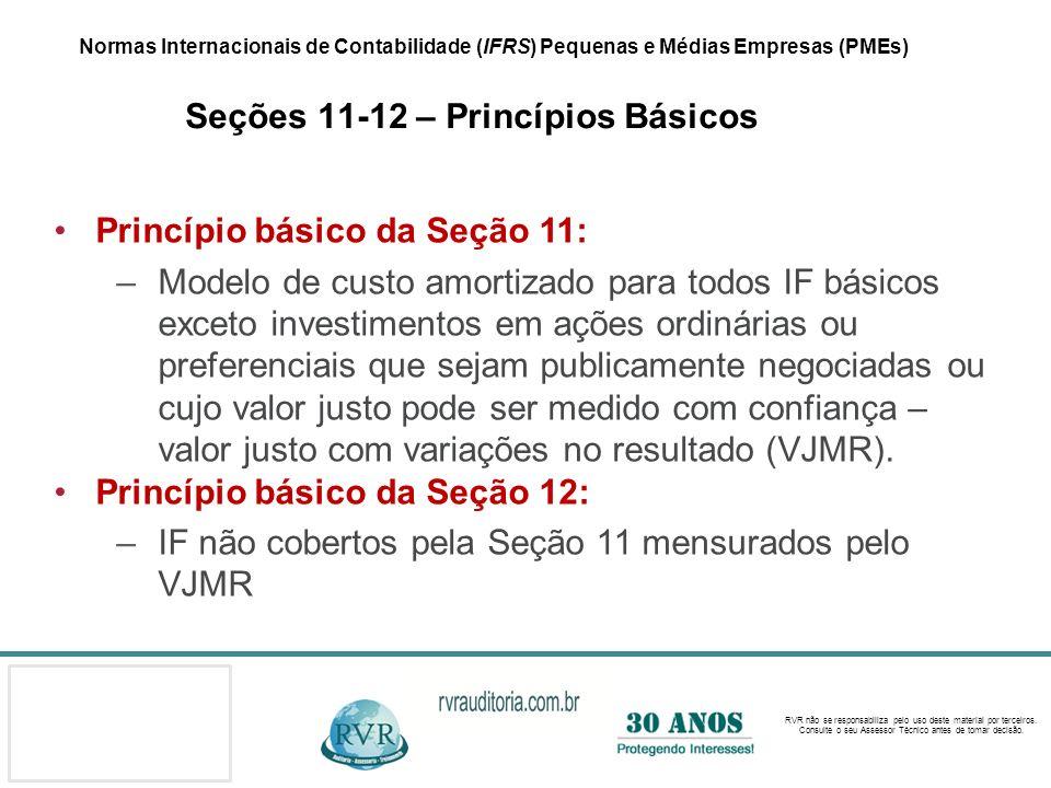 Princípio básico da Seção 11: