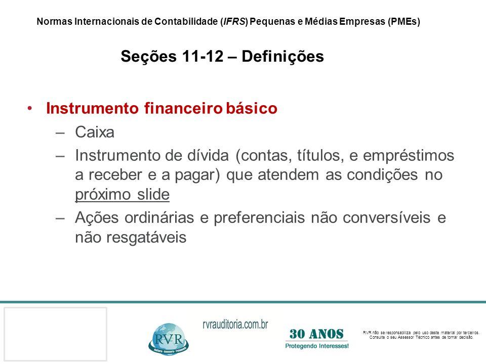 Instrumento financeiro básico Caixa