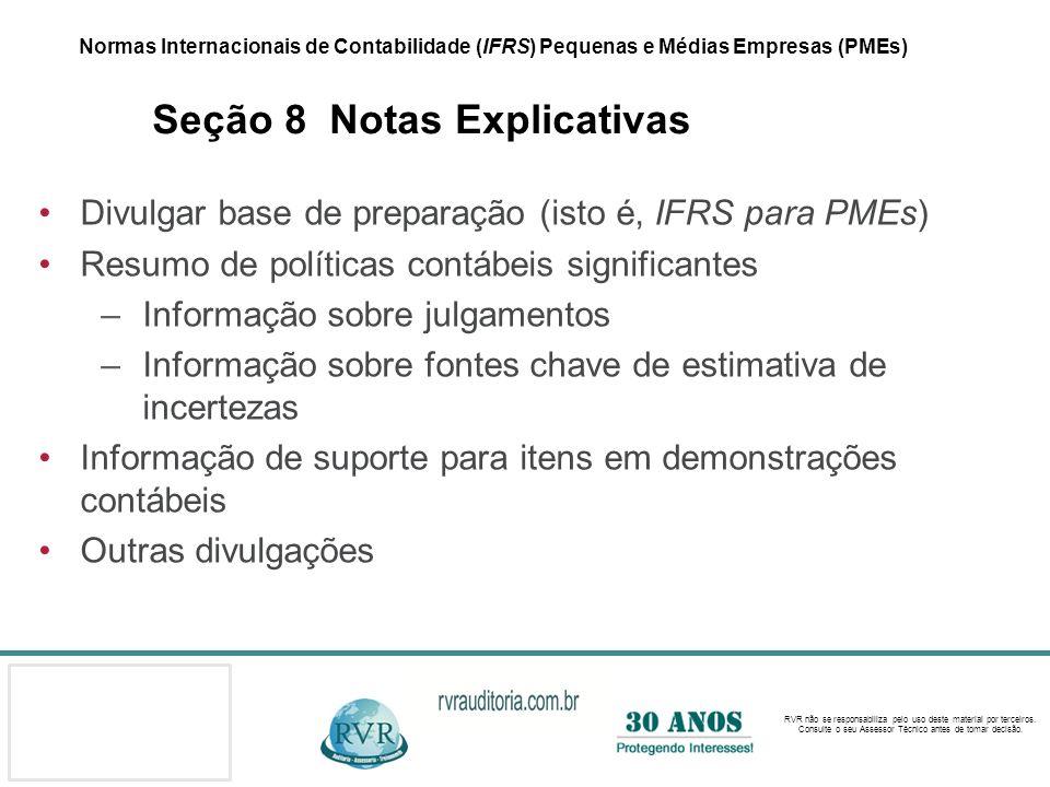 Divulgar base de preparação (isto é, IFRS para PMEs)