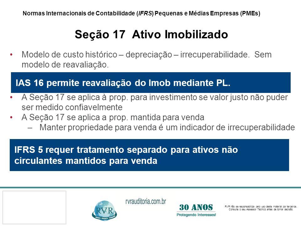 IAS 16 permite reavaliação do Imob mediante PL.