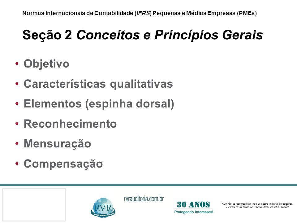 Características qualitativas Elementos (espinha dorsal) Reconhecimento
