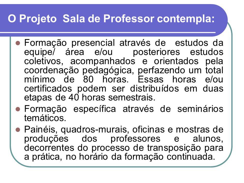 O Projeto Sala de Professor contempla: