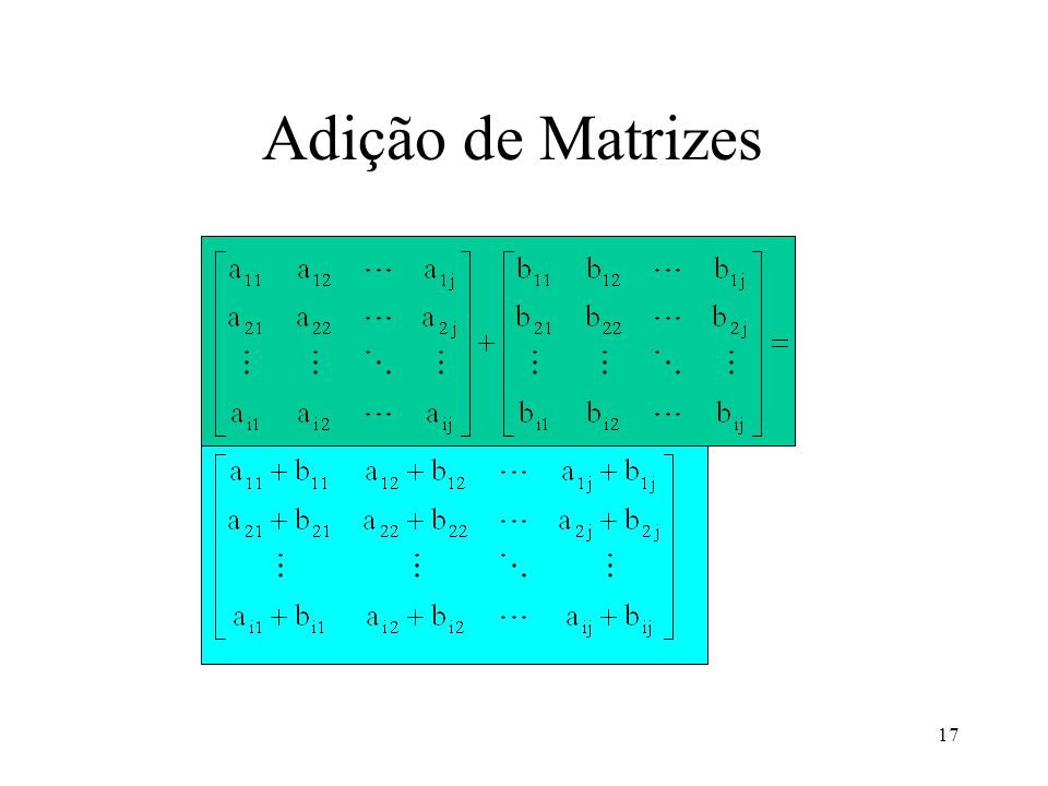 Adição de Matrizes