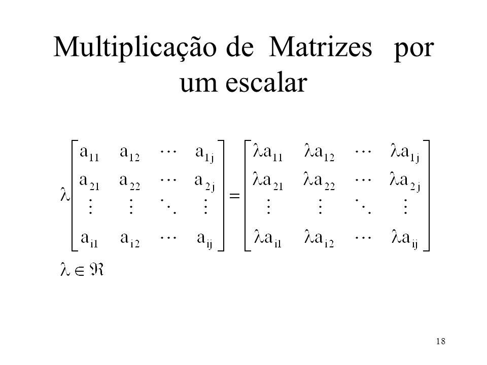 Multiplicação de Matrizes por um escalar