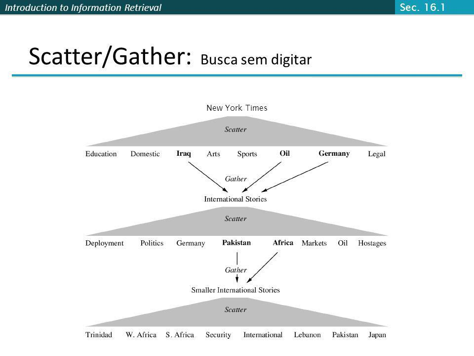 Scatter/Gather: Busca sem digitar