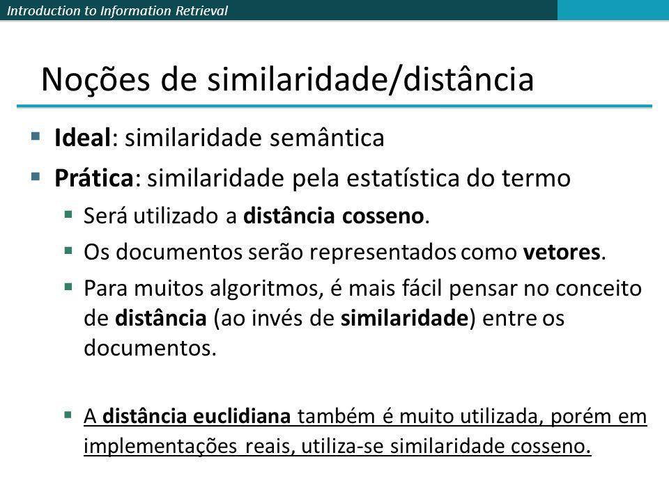 Noções de similaridade/distância