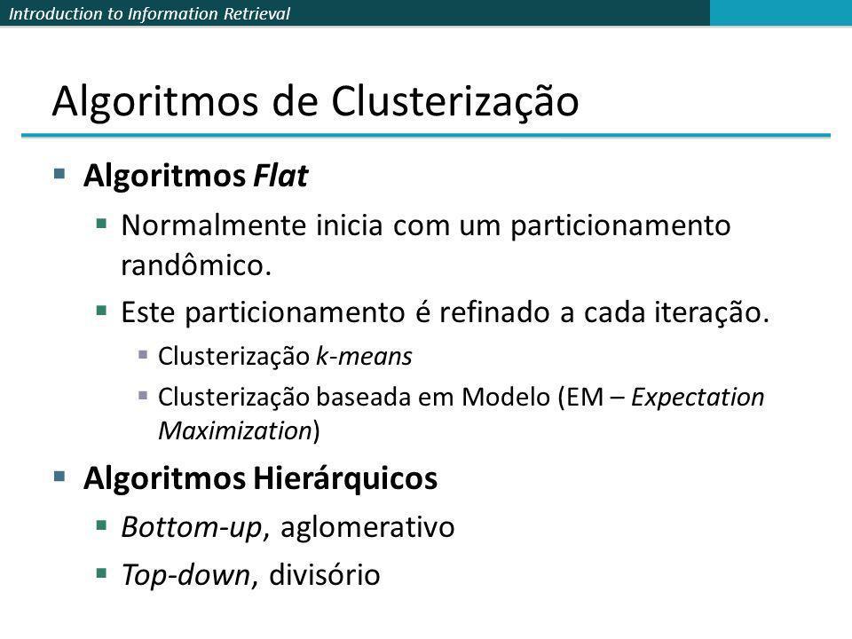 Algoritmos de Clusterização