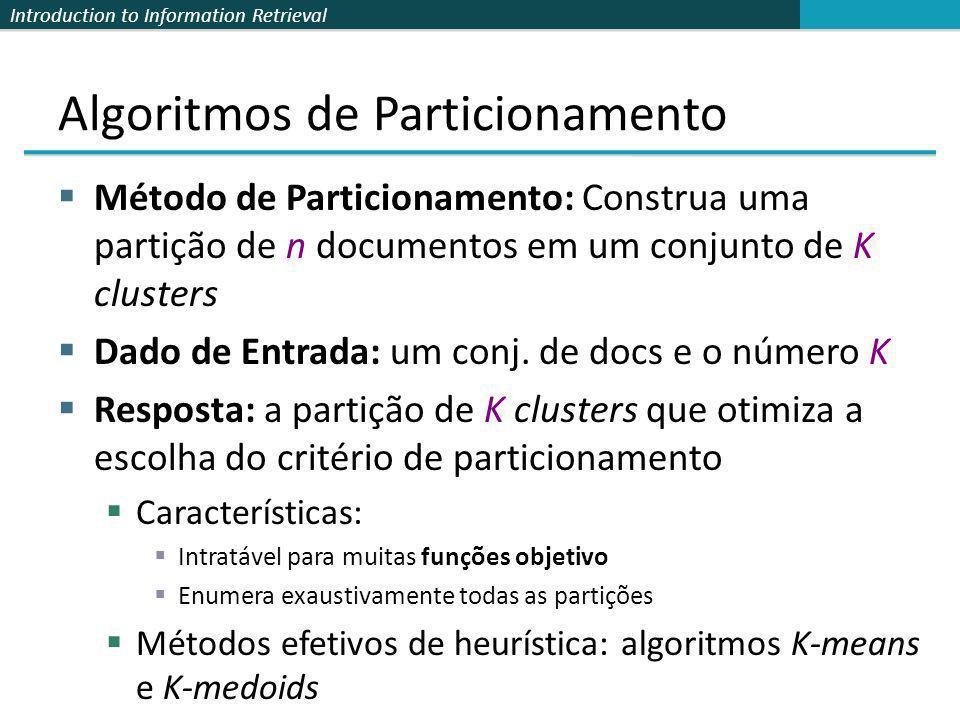 Algoritmos de Particionamento