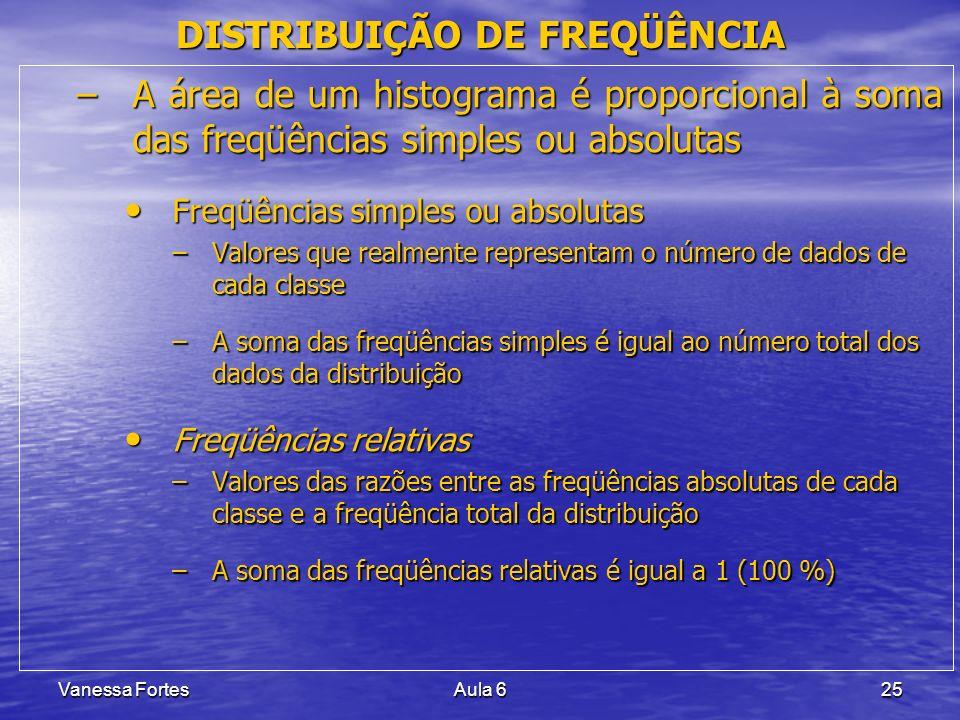 DISTRIBUIÇÃO DE FREQÜÊNCIA