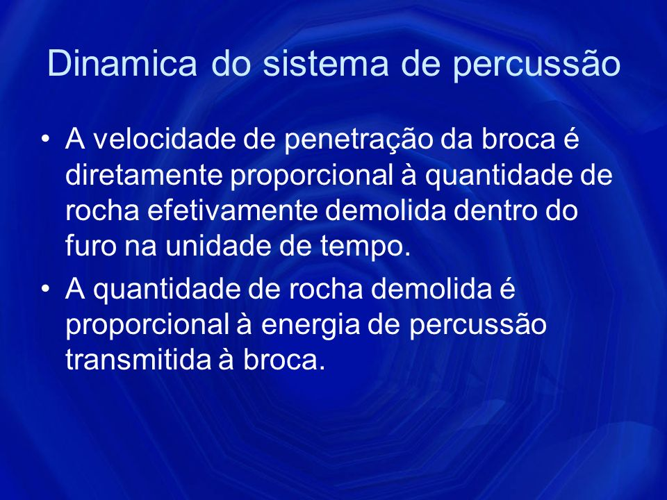 Dinamica do sistema de percussão