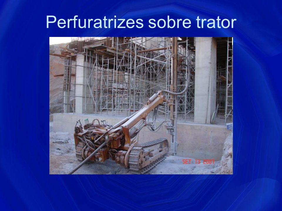 Perfuratrizes sobre trator