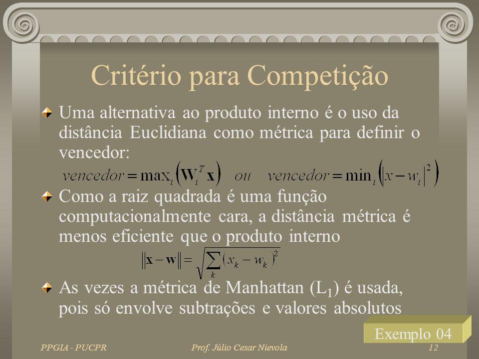 Critério para Competição