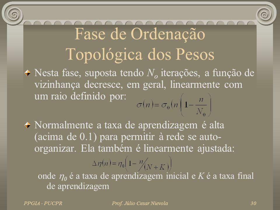 Fase de Ordenação Topológica dos Pesos